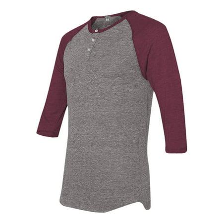 Mato hash 3 button henley raglan t shirt 3 4 sleeve for 3 4 henley shirt