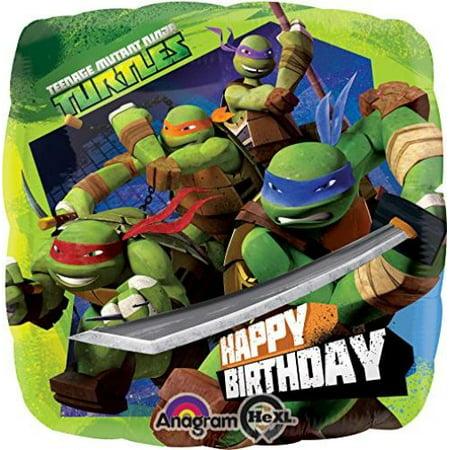 Anagram International HX Ninja Turtles Birthday Party Balloons, Multicolor