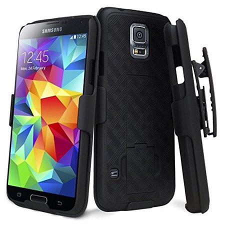 Galaxy S5 Case, Slim Holster Shell Combo Case [Rotating Swivel Belt Clip] for Samsung Galaxy