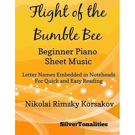 Flight of the Bumble Bee Beginner Piano Sheet Music - eBook - Halloween Piano Music For Beginners