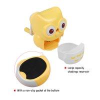 Safe Handheld Manual Pencil Sharpener Single-hole Sharpeners School Supplies for Pupils Kids Cute Owl Shape Yellow