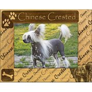 Giftworks Plus DBA0053 Chinese Crested, Alder Wood Frame, 5 x 7 In