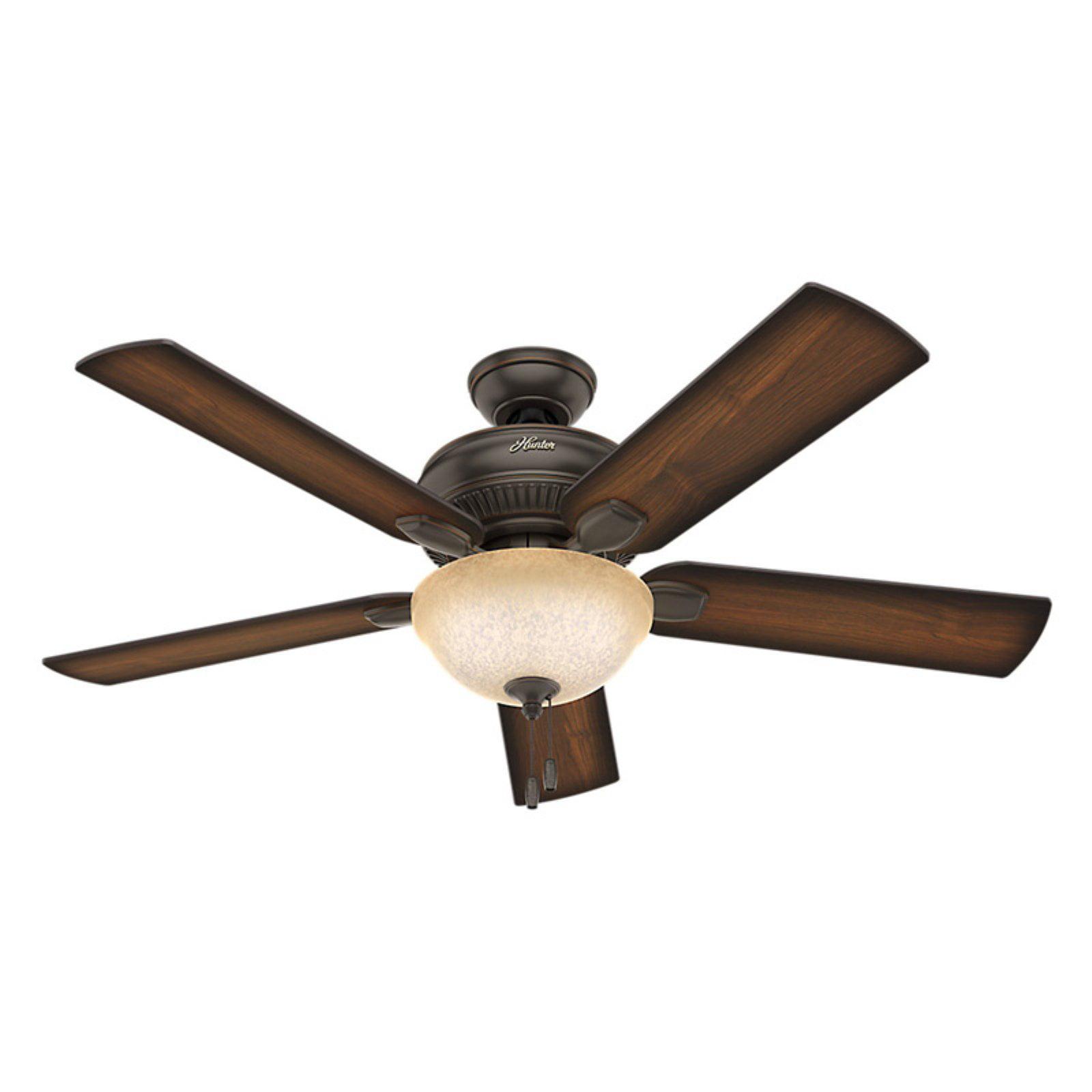Hunter 52 Quot Matheston Onyx Bengal Ceiling Fan With Light
