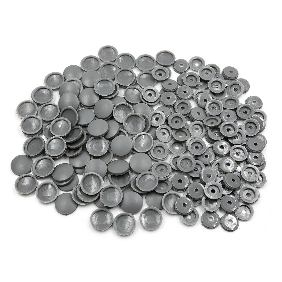 100 Set Gray 4mm Dia Nut Screw Bolt Cap Cover Interior Decoration for Car - image 3 of 3
