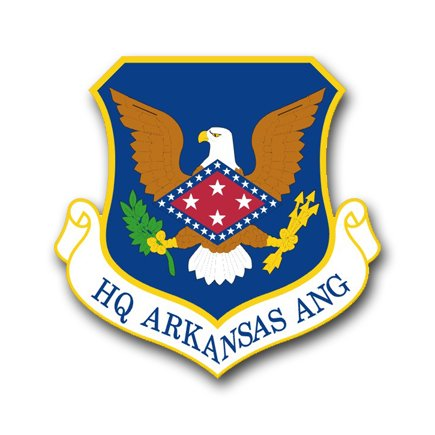 3.8 Inch Air Force Headquarters Arkansas Air National Guard Vinyl Transfer Decal