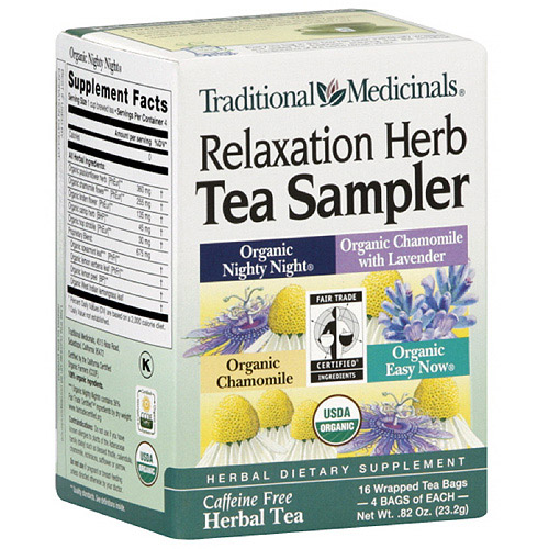 Traditional Medicinals Relaxation Herb Tea Sampler, 16ct (Pack of 6)
