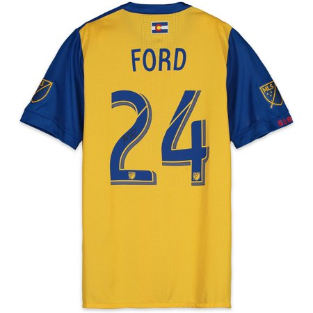 info for 5b427 a91a2 Kortne Ford Colorado Rapids Autographed Match-Used Yellow #24 Jersey from  the 2018 MLS Season - Fanatics Authentic Certified