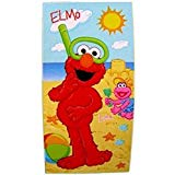 Sesame Street Plaza Sesamo Fiber Reactive Beach Towel Elmo Lola Sandcastle Beach Fun