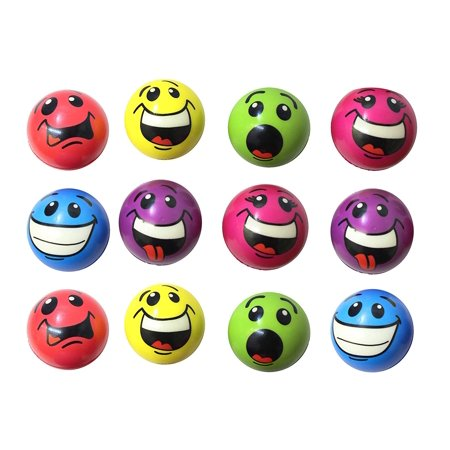 Emoji Stress Ball Bundle of 12 - BULK - Fidget Set for Students, Adults and Children Office Calming Toy (Bulk Toys For Kids)