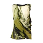 Rachel Roy Women's Draped Chiffon Blouse (XS, Pearl Combo)