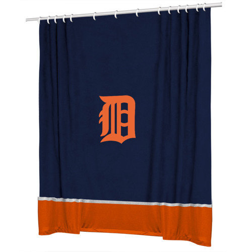 Sports Coverage Inc. MLB Detroit Tigers Sidelines Shower Curtain