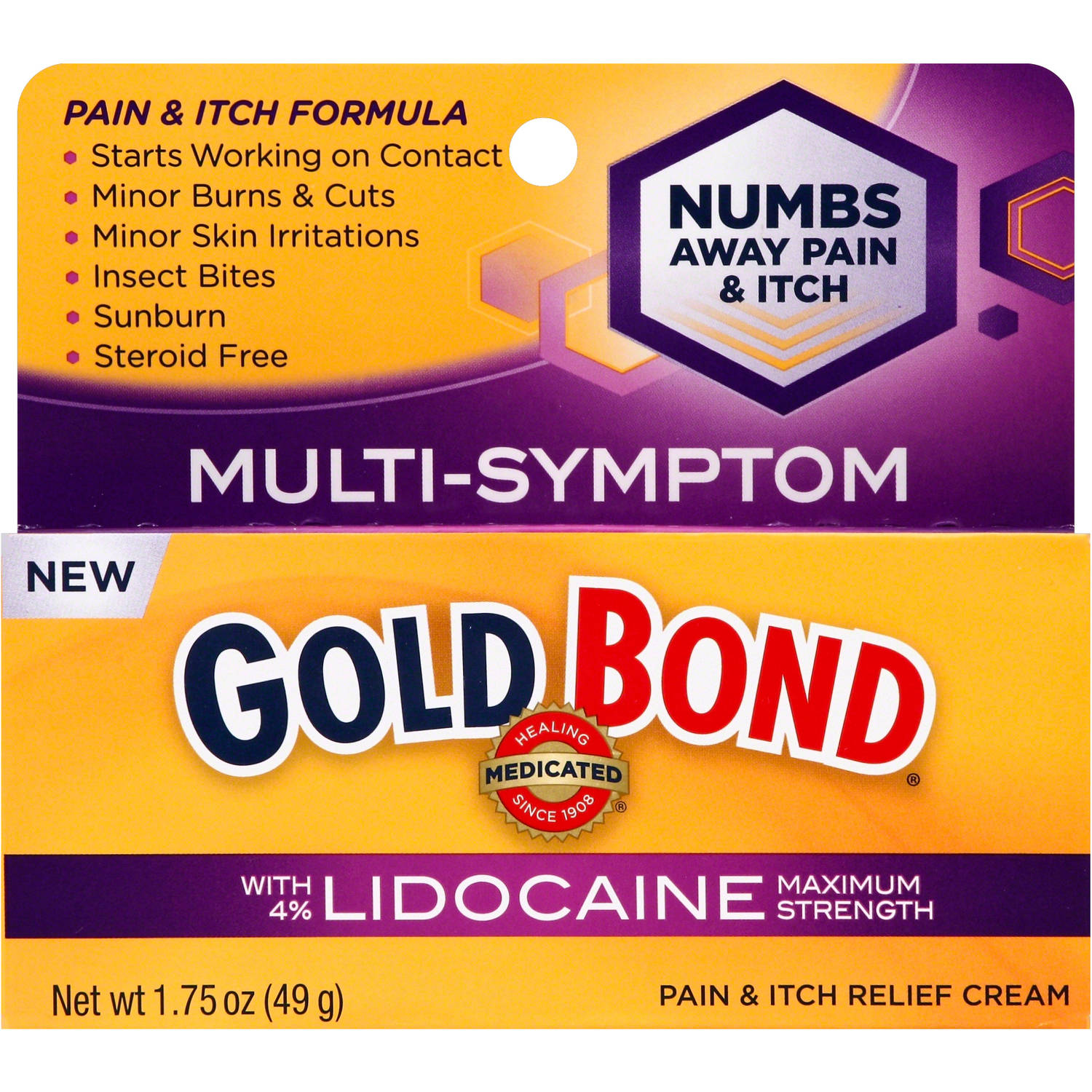 Gold Bond Multi-Symptom Pain & Itch Relief Cream, 1.75 oz