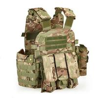 Outdoor Men's Modular Molle Vest Chest Rig Gear Load Carrier Vest with Hydration Pocket