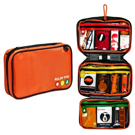 Safety First Aid Kit, Relief Pod Traveler Pro Plus Bag First Aid Kit Small, 62pc (Safety First Bag)