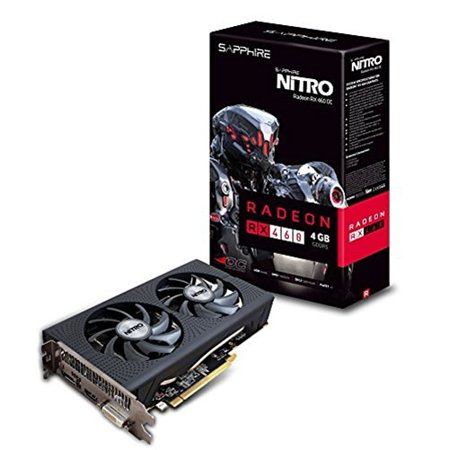 Sapphire Nitro Radeon Rx 460 Graphic Card - 1.18 Ghz Core - 1.25 Ghz Boost Clock - 4 Gb Gddr5 - Pci Express 3.0 - Dual Slot Space Required - 128 Bit Bus Width - Crossfire - Fan Cooler - (11257-02-20g)