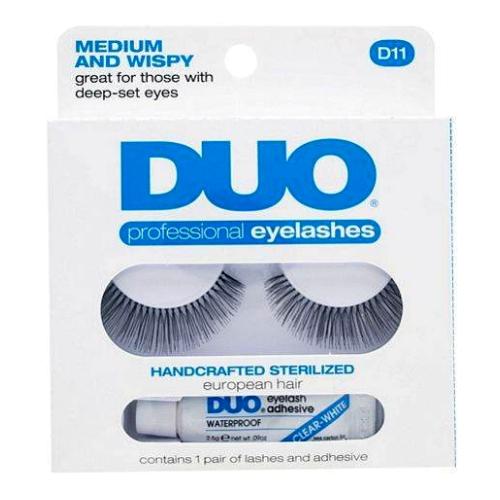(3 Pack) DUO Eyelash Adhesive - Think and Wispy D12 Eyelashes - Medium and Wispy