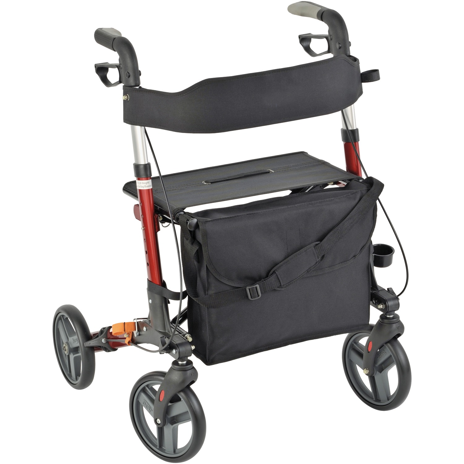 Juvo Products EZF101 E-Z Fold Rollator (Cherry Red)