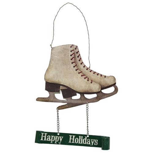 Happy Holidays Ice Skate Hanger by