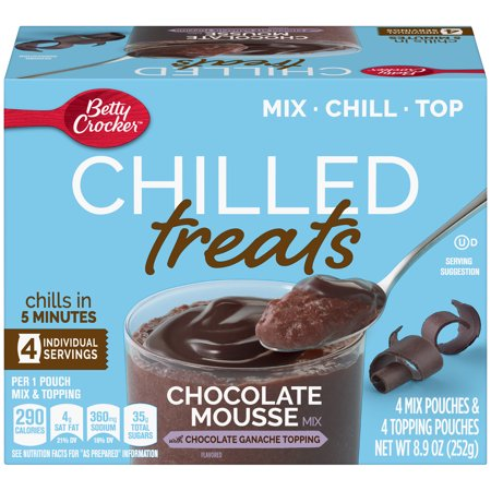 Betty Crocker Chilled Treats, 4 Servings, 8.9 oz - White Chocolate Mousse Recipe