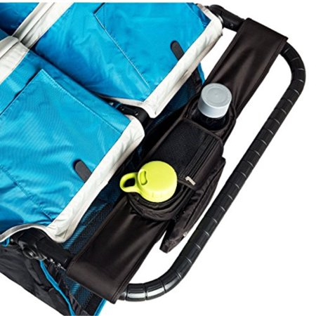 BEST DOUBLE STROLLER ORGANIZER for Smart Moms, Fits Both Double & Single Strollers, Deep Cup Holders, Extra Storage Space for iPhones, Wallets, Diapers, Books, & Toys, The Perfect Biy Shower