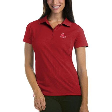Boston Red Sox Antigua Women's Pique Xtra-Lite Polo - Red Boston Red Sox Uniform