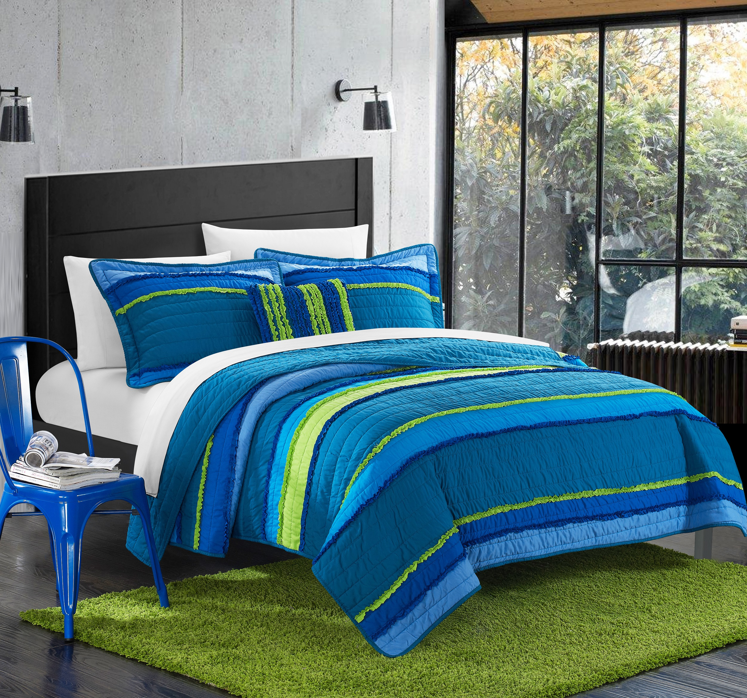 Chic Home Catticott 3 Piece Quilt Set