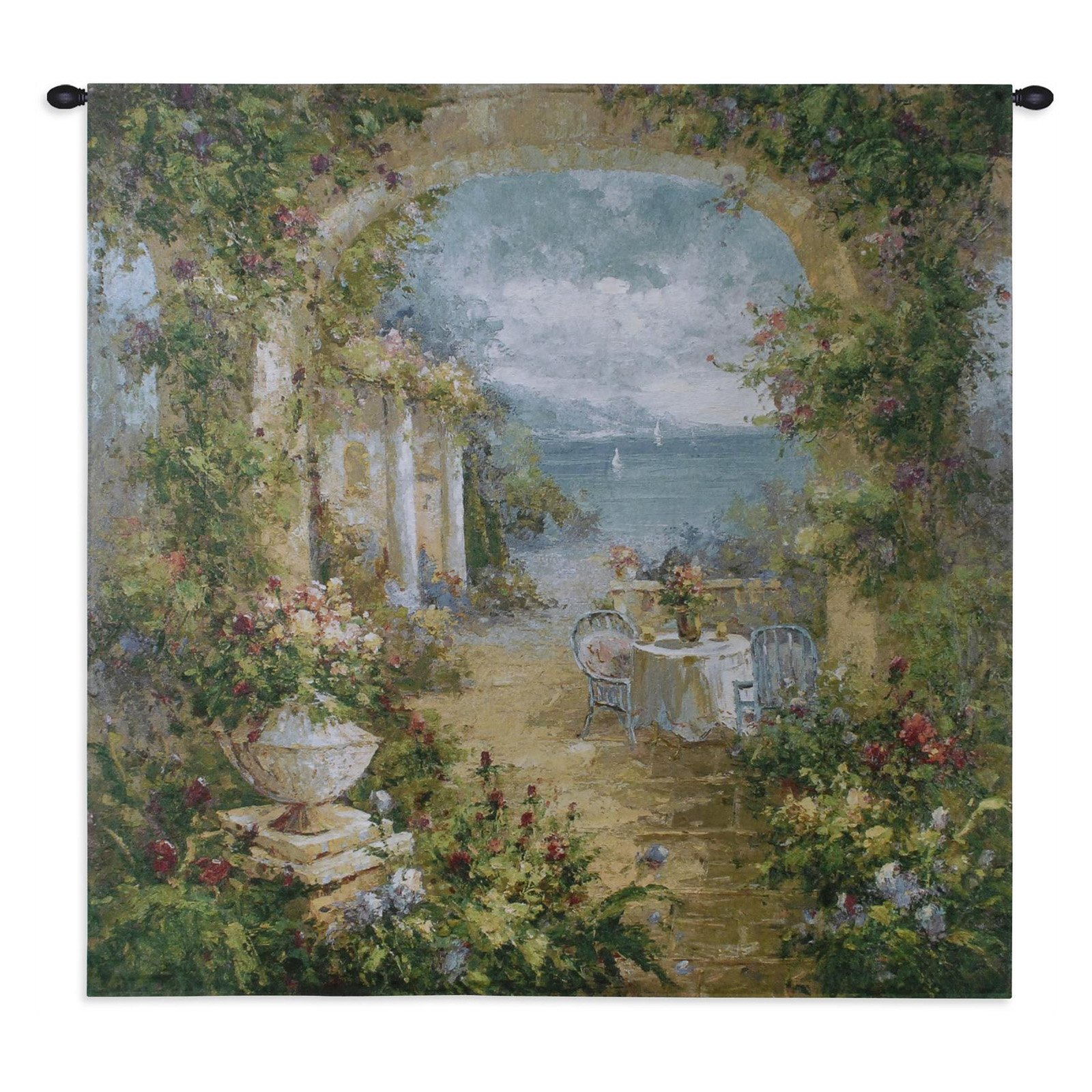 FineArtTapestries 2744-WH Mediterranean Arches II Large Wall Tapestry by Supplier Generic