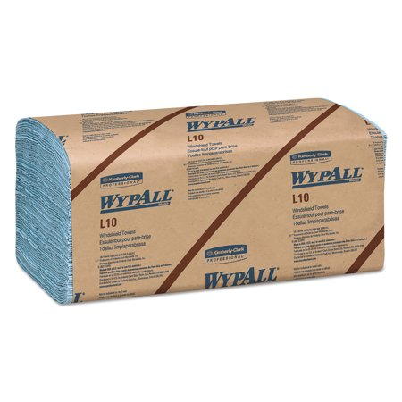 Wypall, KCC05120, L10 Windshield Towels, 2240 / Carton, Blue