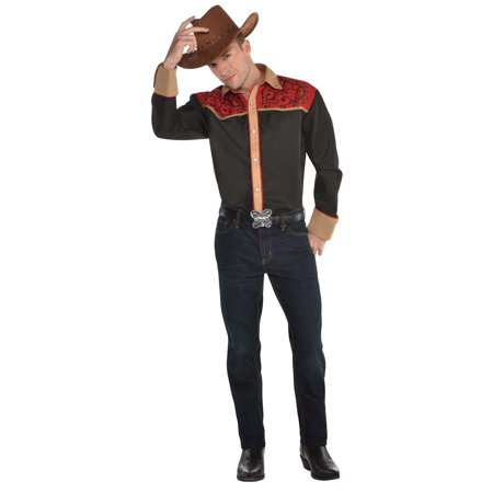 Bandit Town Halloween (Western Cowboy Mens Adult Bandit Halloween Costume)