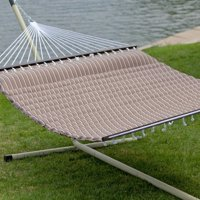 Belham Living 13 ft. Cocoa Pillowtop Hammock with Steel Stand