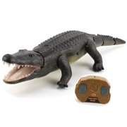Top Race Remote Control Crocodile, Prank Crocodile RC Animal Toy, Looks Real Feels Real Roars Moves Like a Real Crocodile (TR-Croc)