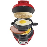 Hamilton Beach 25476 Breakfast Electric Sandwich Maker, Red