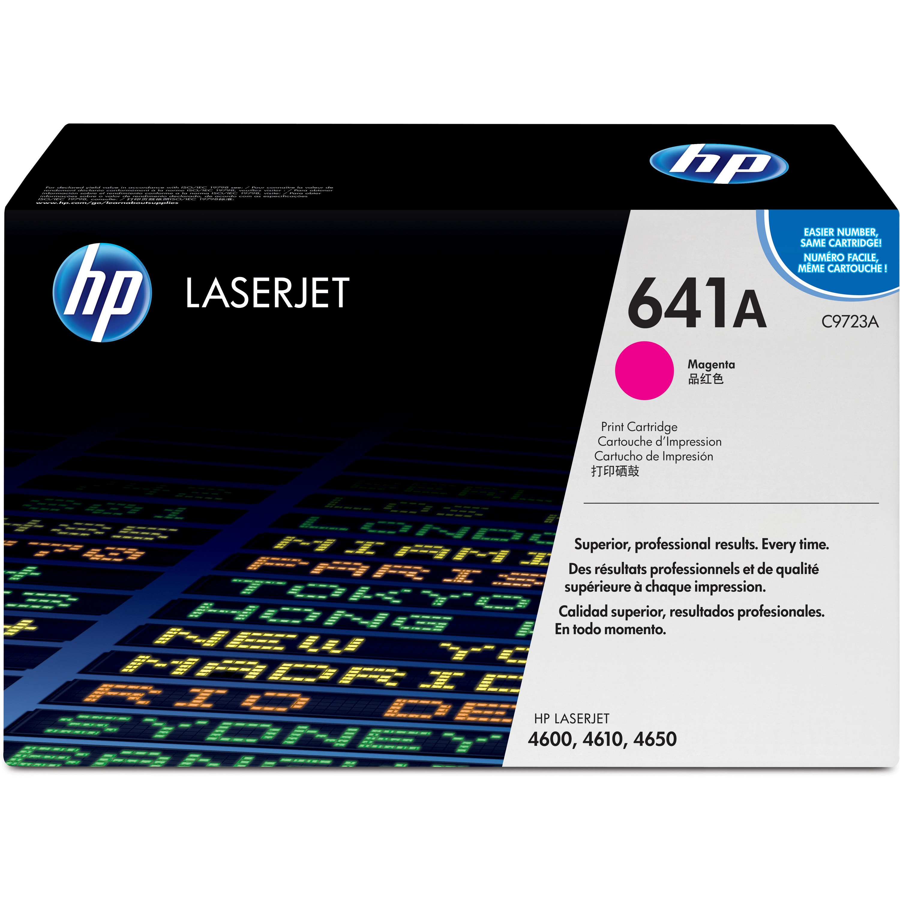 HP 641A (C9723A) Magenta Original LJ Toner Cartridge