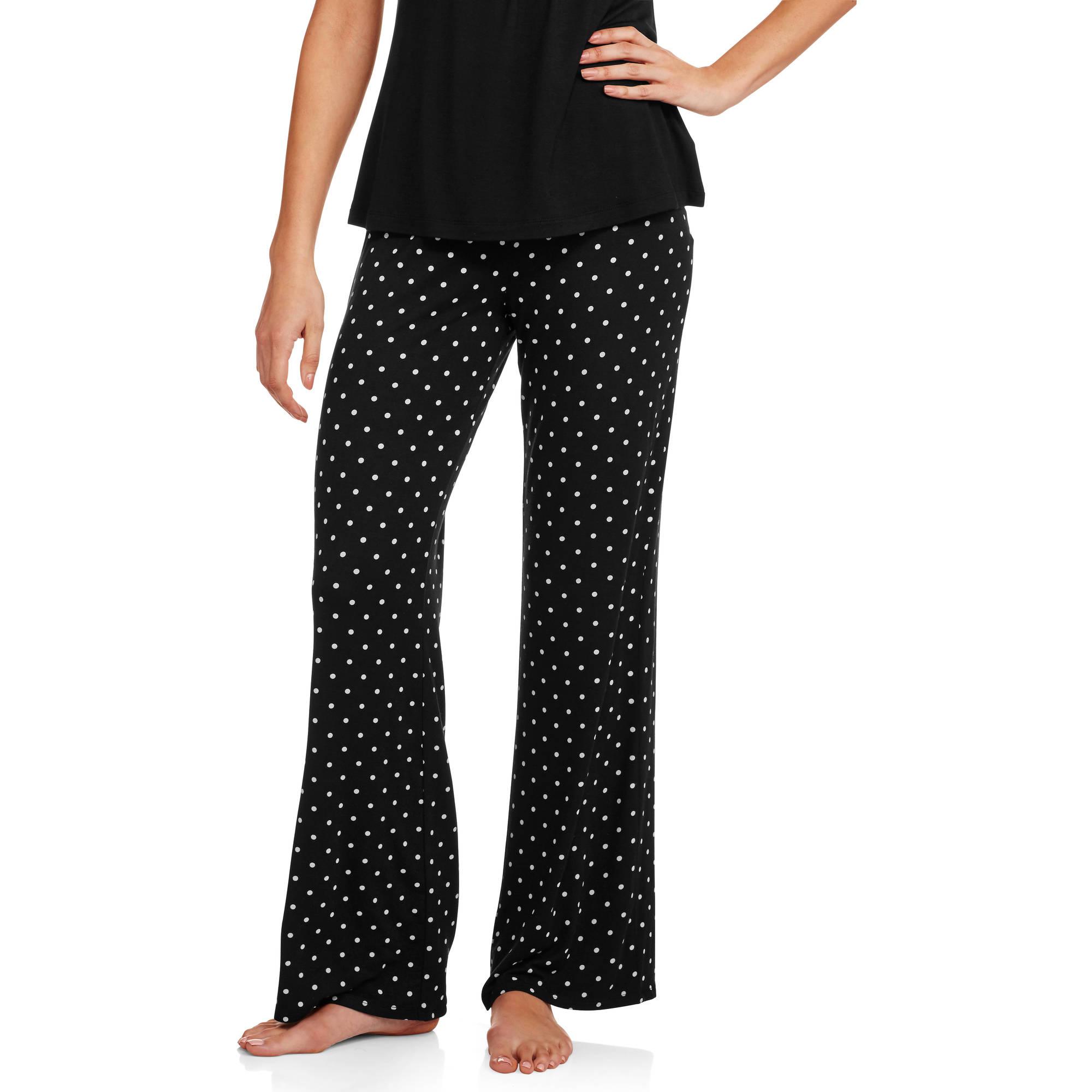 NEW Womens Sleep Shorts Pajamas Plus Size 3X Black White Diamond Rayon PJ Bottom