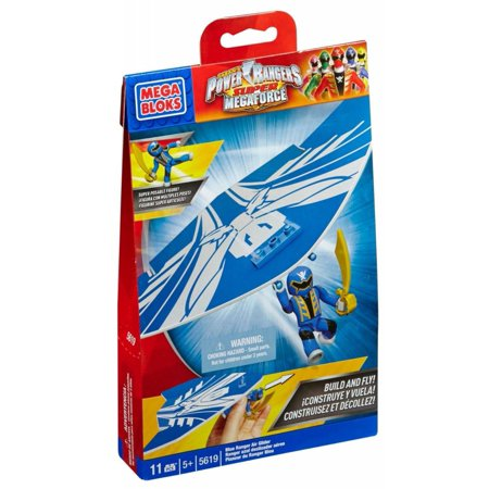 Power Rangers Super Megaforce Blue Ranger Air Glider Set Mega Bloks 5619