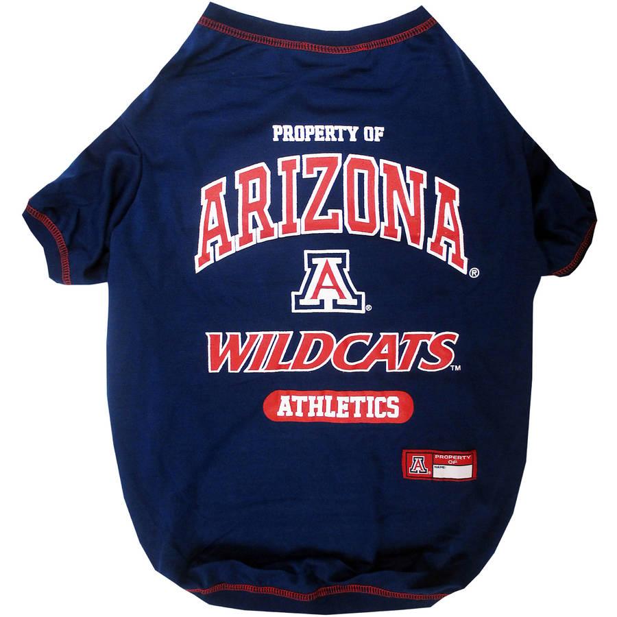 Pets First Collegiate University of Arizona Wildcats Pet T-shirt, Assorted Sizes