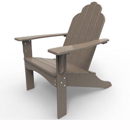 Adirondack Chair By Malibu Outdoor Yarmouth Weathered Wood