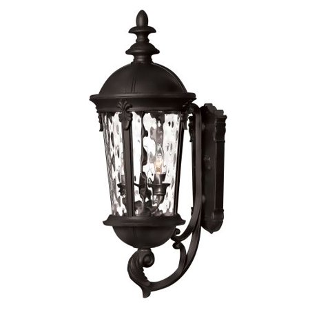 Hinkley Lighting 1894Bk 25 5  Height 3 Light Lantern Outdoor Wall Sconce In Blac