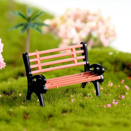 Lubelski Creative Mini Park Bench Model, Decorative Garden Benches Mini