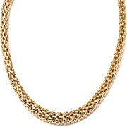 Peermont Jewelry Goldplated Gold Popcorn Mesh Necklace
