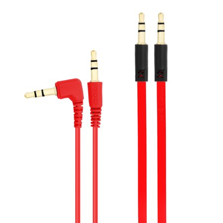 Chromo Inc 2 Pack Aux 3.5mm - 3.5mm Translucent Auxiliary Music Cables -