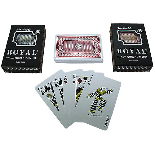 Trademark Poker Royal Plastic Playing Cards with Star Pattern, 2 Decks