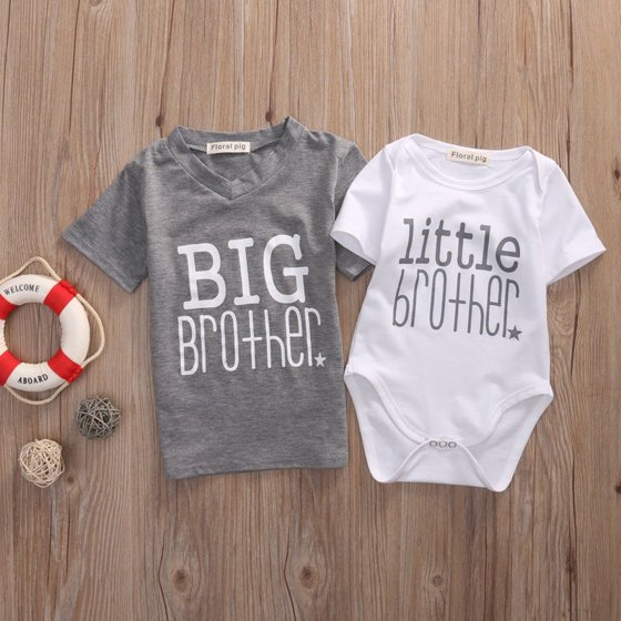 22ebc881 Emmababy - Hot Infant Baby Boys Romper Bodysuit Big Brother T-shirt Tops  Outfits Family Set - Walmart.com