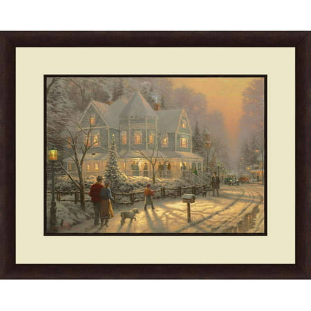 Thomas Kinkade,Holiday Gatherin, 20x16 Decorative Wall Art