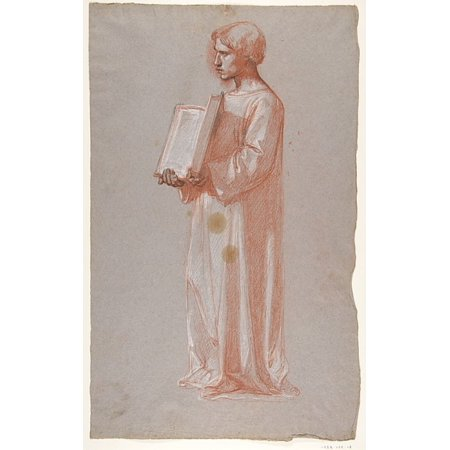 Acolyte With Open Book  Middle Register Study For Wall Paintings In The Chapel Of Saint Remi Sainte Clotilde Paris 1858  Poster Print By Isidore Pils  French Paris 181315   1875 Douarnenez   18 X 24