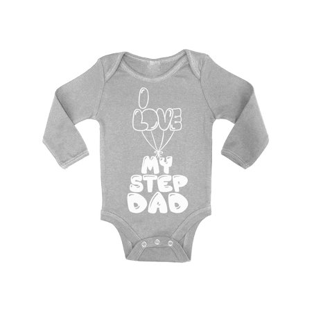 Awkward Styles Baby Boy Clothes One Piece Cute Baby Girl Bodysuit I Love my Step Dad I Love my Daddy Baby Bodysuit Best Father Ever Bodysuit Long Sleeve Cute Gifts (Best Parents Evers)