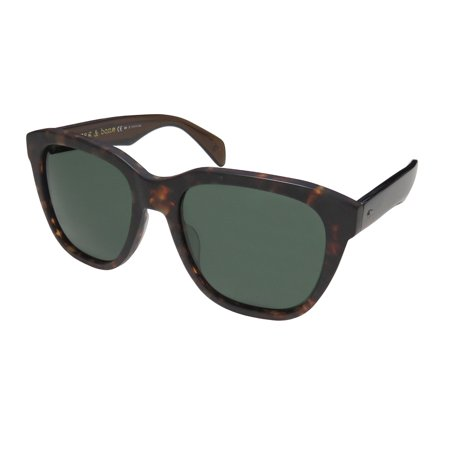 New Rag & Bone 5001 Womens/Ladies Designer Full-Rim Gradient Tortoise High Quality Popular Shape Elegant Authentic Hip Frame Green Lenses 54-19-145 Flexible Hinges Sunglasses/Eyewear