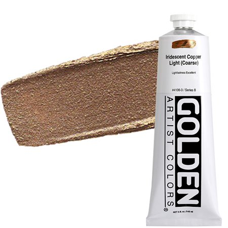 GOLDEN Heavy Body Acrylic 5 oz Tube - Iridescent Copper Light (Coarse)