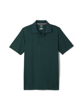 French Toast Boys 4-20 School Uniform Short Sleeve Stretch Moisture Wicking Polo Shirt