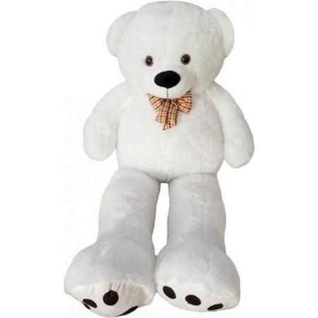 Kreative Kids 54003 Giant Teddy Bear - White, 4 ft. - image 1 of 1